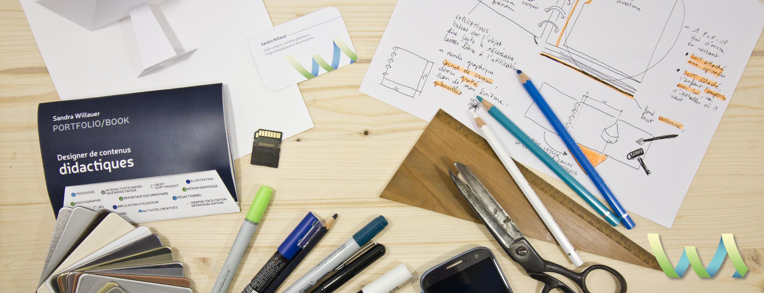 bureau et outils de Sandra Willauer
