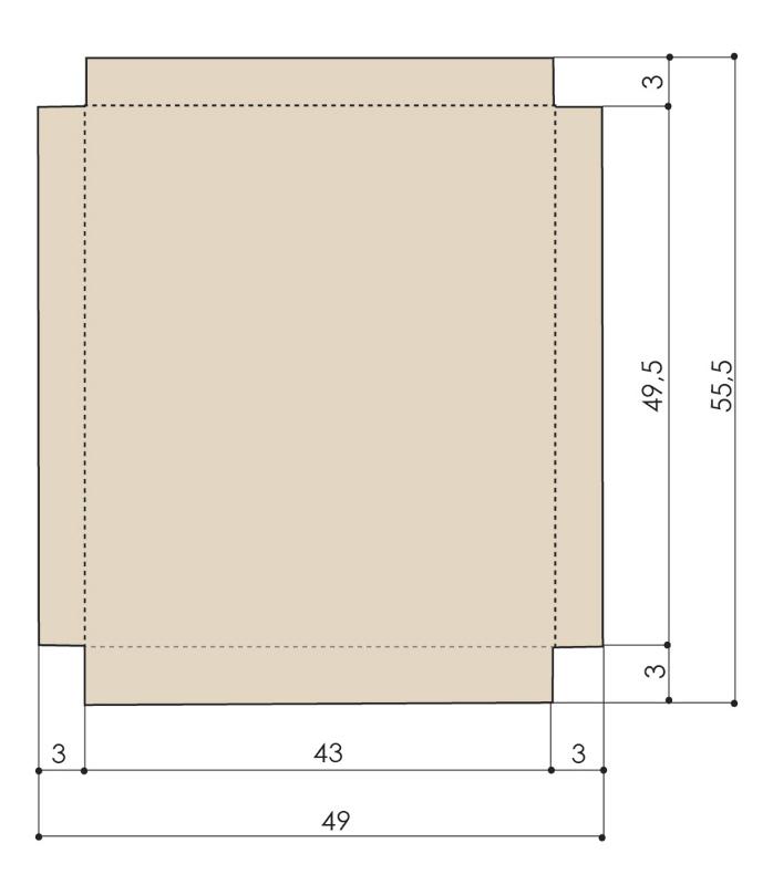Gabarit de fabrication pour la boite de rangement du calendrier de l'avent.