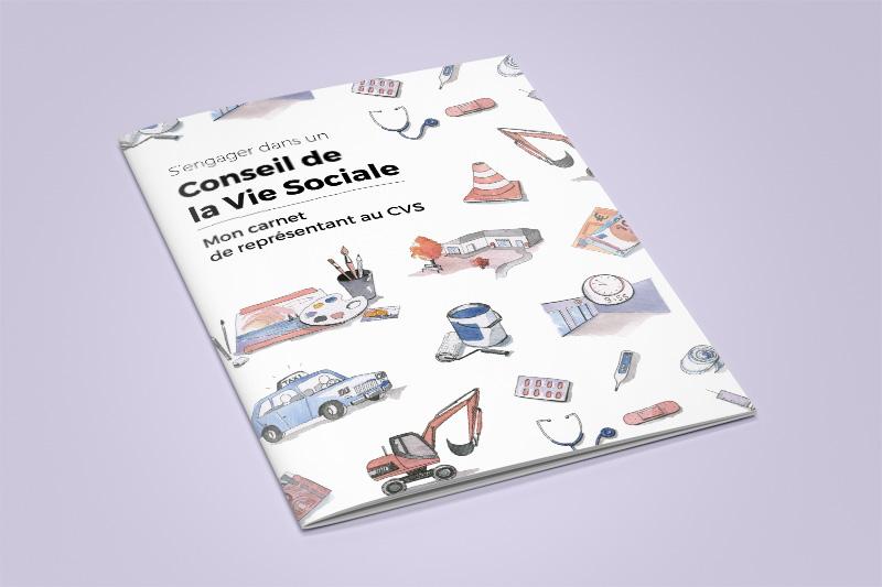 """Photographie du carnet """"S'engager dans un Conseil de la Vie Sociale"""""""