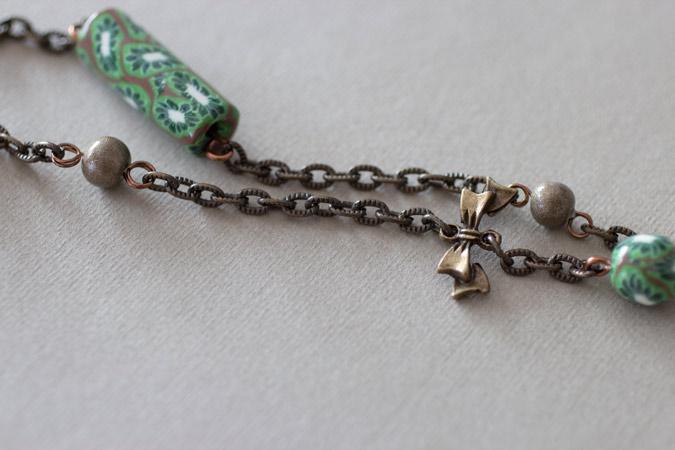 Collier Cœur de kiwi