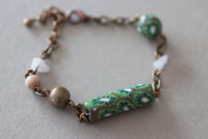 Bracelet Cœur de kiwi