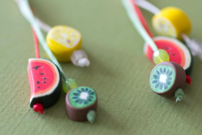 Boucles d'oreilles Salade de fruits