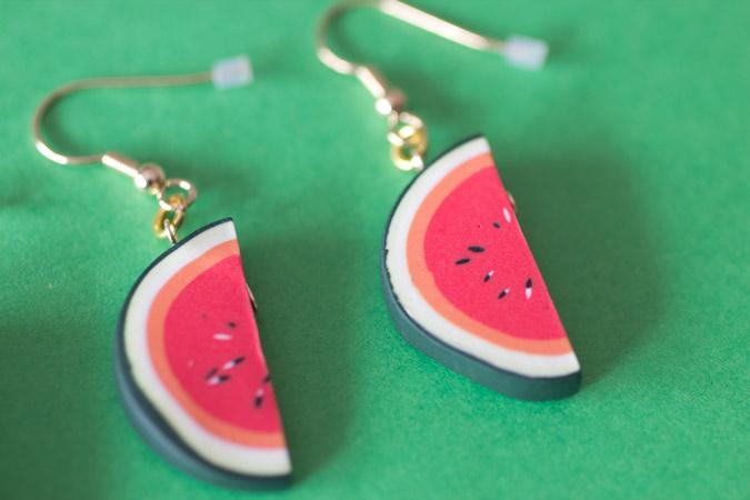 Boucles d'oreille Tranches de pastèque