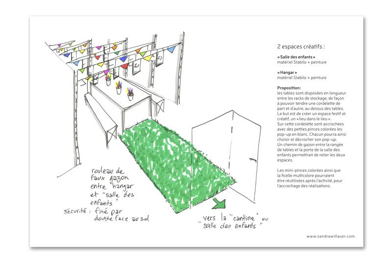Capture d'un croquis extrait du dossier préparatoire.